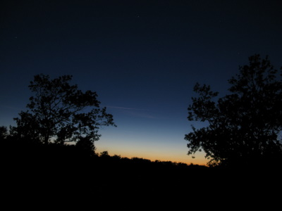 Solnedgang og lysspil - på grænsen mellem dag- og natlandet