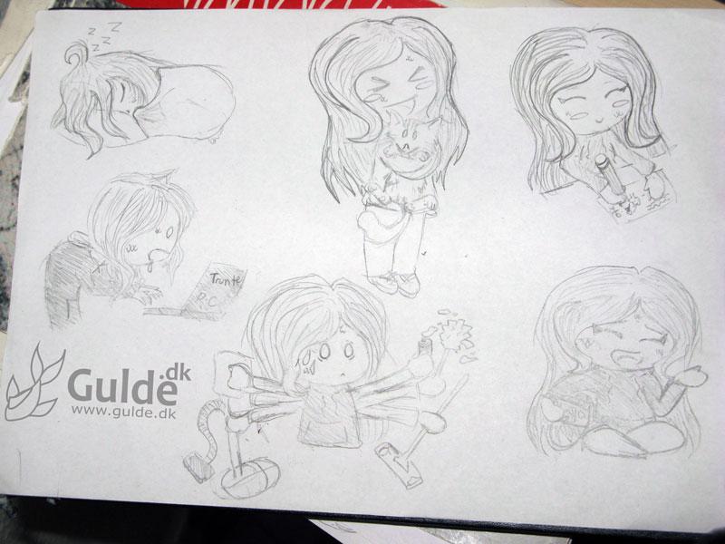 Gulde Doodles, sovetryne, Pc-Igor, Fluff-nusning, rengøringsmani, tegning og youtube-filmning