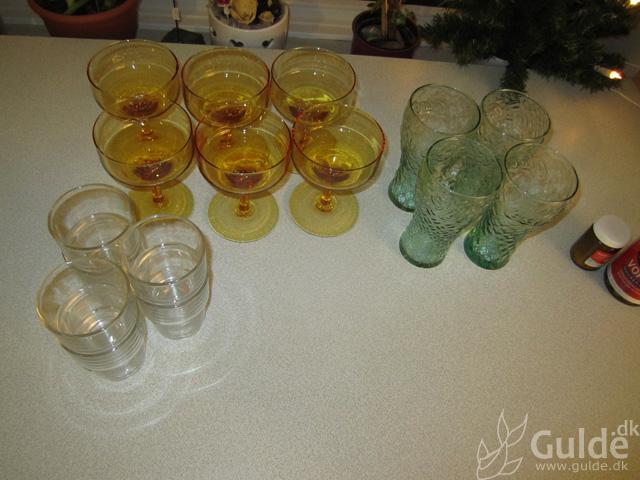 De frasorterede glas...