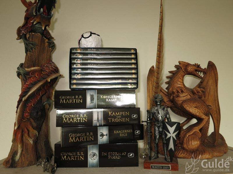 Mine bøger, tiphylden i stuen