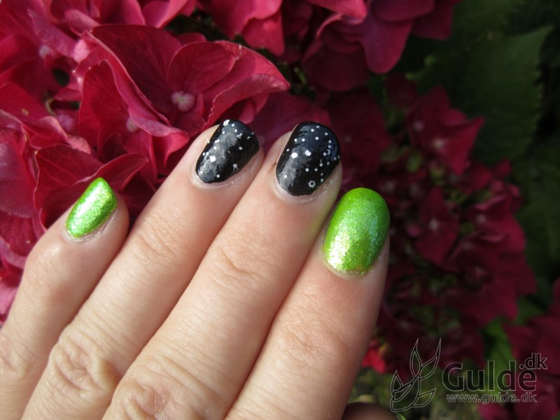 Lime og nero - full on glitter!