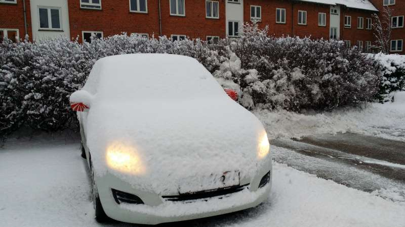 Og der blev sne