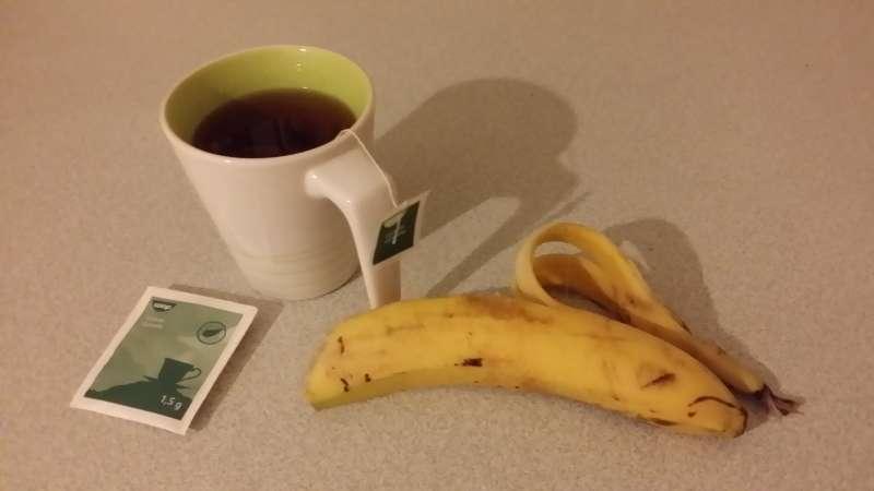 Banan snack og aften te