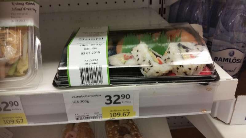 Dyr fejlmærket sushi