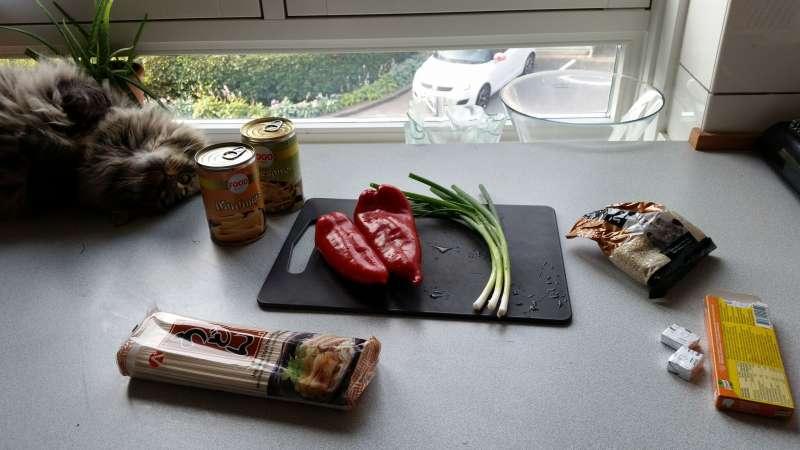 Åh ja, og madlavning kræver selvfølgelig kat midt i det hele! Hvis man er katteejer er det i hvert fald svært at undgå