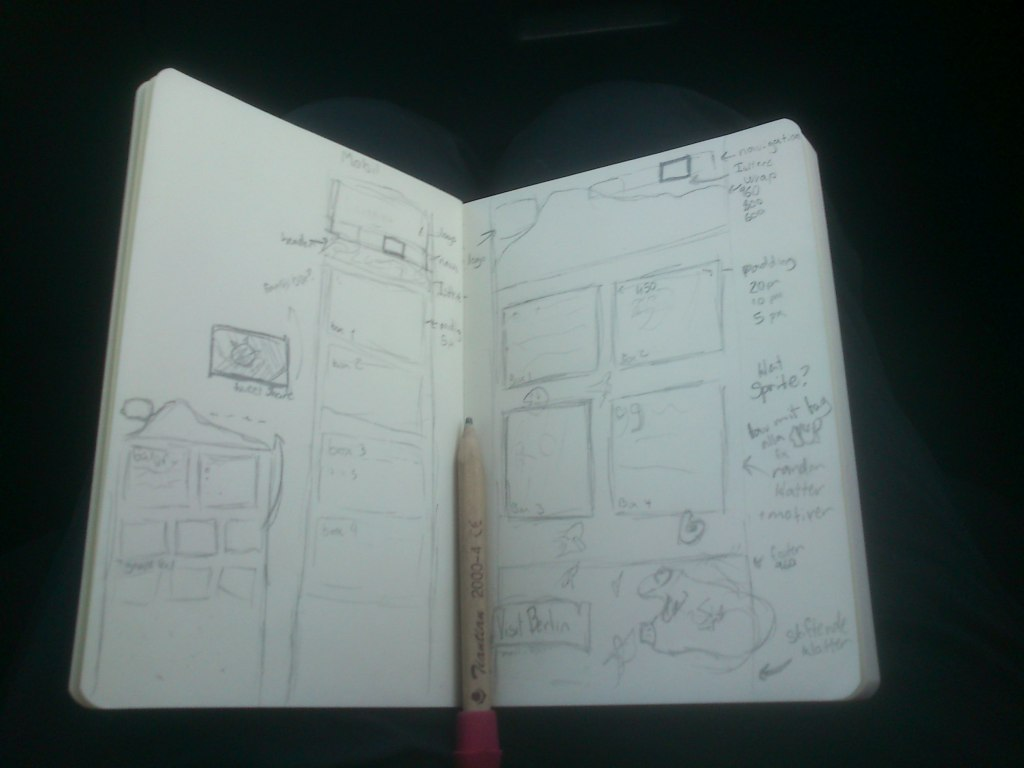 Planing a webdesign, this is how I like to do it