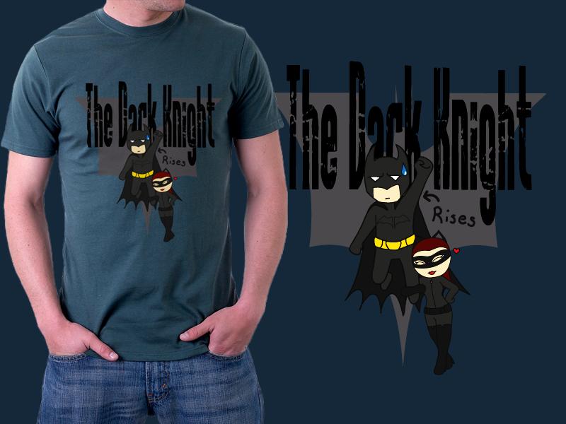 Batman - Dark Knight Rises Tshirt design Mockup
