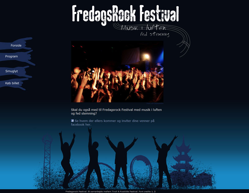 Friday Rock Microsite