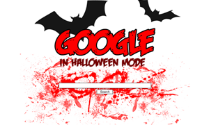 Google redesign: In Halloween mode