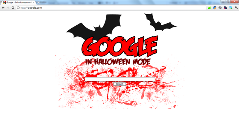 Google redesign: I Halloween mode